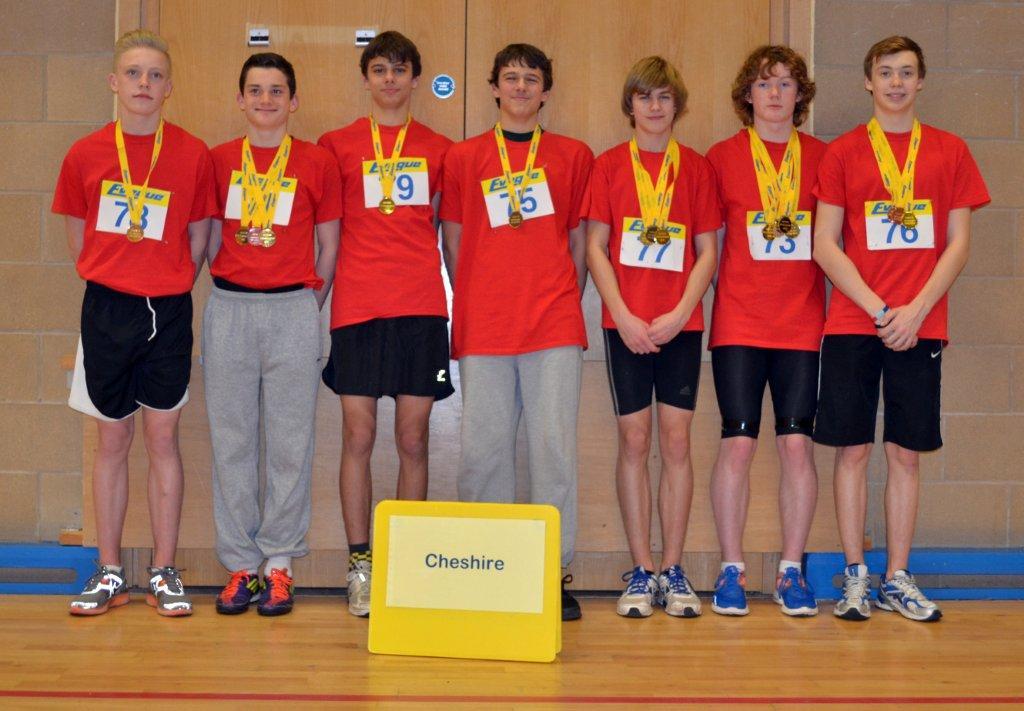 Sporthall Rigional Final 160213 Robin Park Wigan Cheshire Team U15 Boys Winning Team-3213