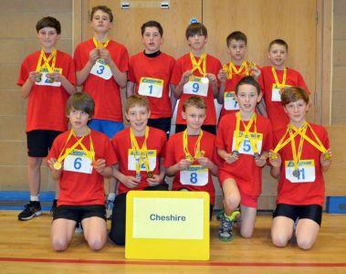 Sporthall Rigional Final 160213 Robin Park Wigan Cheshire Team U13 Boys Team Winners Pic Courtesy Of Ian Williamson-3212