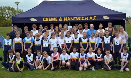 Triple Success at Round 2 Cheshire T&F League